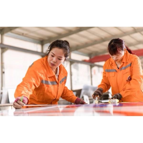 华程路安交通标志牌生产工艺流程