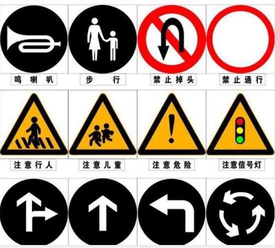 成都交通标志牌