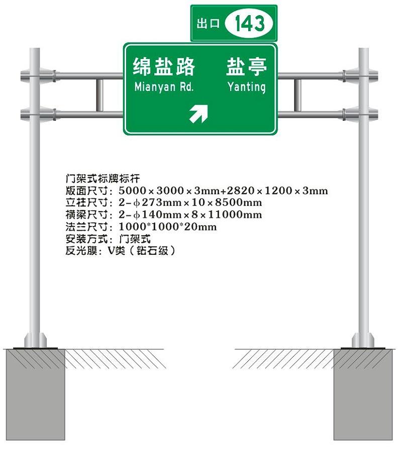 门架式交通标志杆