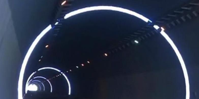 中国国电毛尔盖水电有限公司采购华程路安9000米自发光隧道反光环