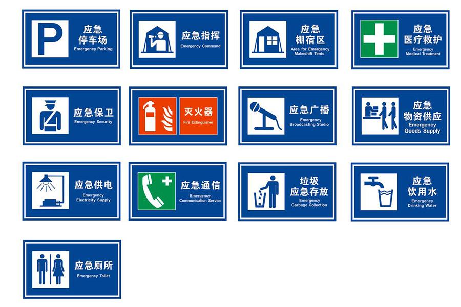 应急避难所交通标志牌