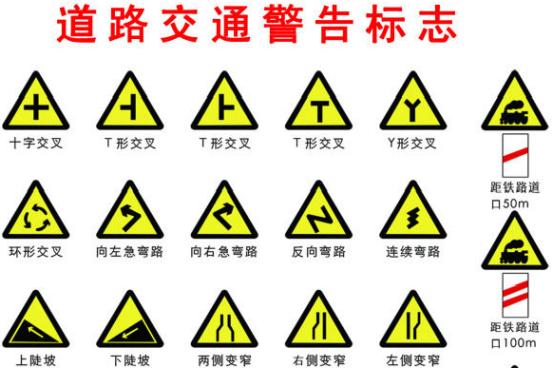 道路交通警告标志